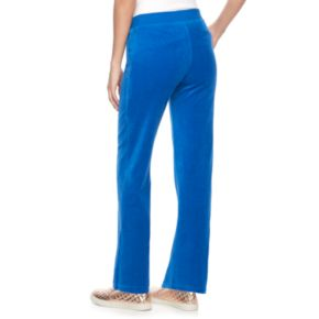 Women's Juicy Couture Midrise Bootcut Velour Pants