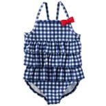 Baby Girl OshKosh B'gosh® Gingham Ruffle One-Piece Swimsuit