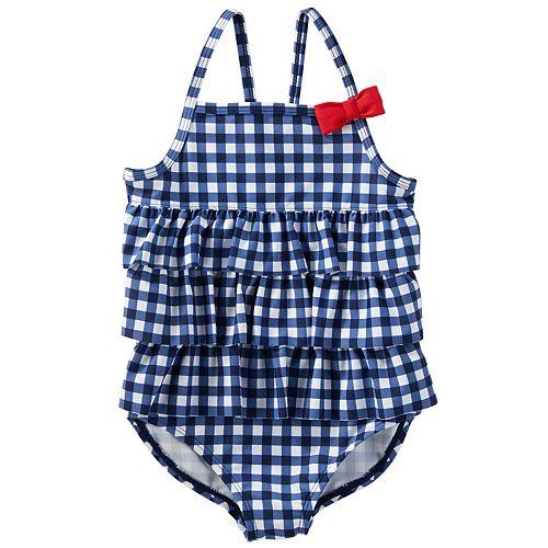 4a0bae4f04ddd Baby Girl OshKosh B gosh® Gingham Ruffle One-Piece Swimsuit