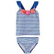 Baby Girl OshKosh B'gosh® Striped Tankini & Bikini Bottoms Swim Set
