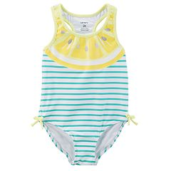 Baby Girl Carter's Lemon Slice Striped One-Piece Swimsuit