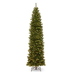 National Tree Company 9-ft. Pre-Lit North Valley Spruce Pencil Slim Artificial Christmas Tree
