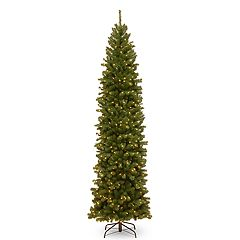 National Tree Company 10-ft. Pre-Lit North Valley Spruce Pencil Slim Artificial Christmas Tree