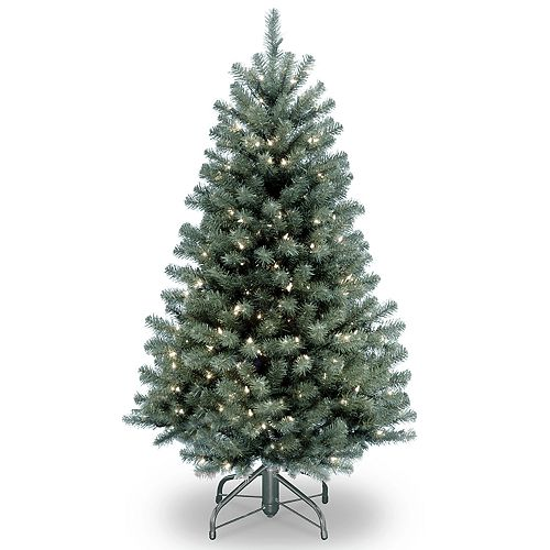 National Tree Company 4.5-ft. Pre-Lit North Valley Blue Spruce Artificial Christmas Tree