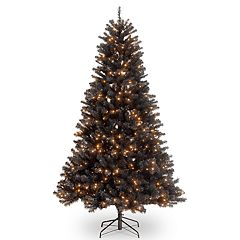 National Tree Company 7.5-ft. Pre-Lit North Valley Black Spruce Artificial Christmas Tree