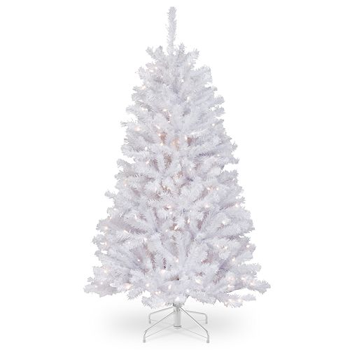 National Tree Company 4.5-ft. Pre-Lit North Valley White Spruce Artificial Christmas Tree