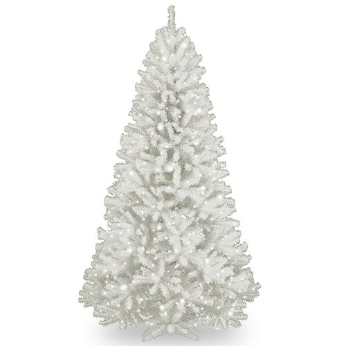 National Tree Company 7.5-ft. Pre-Lit North Valley White Spruce Artificial Christmas Tree