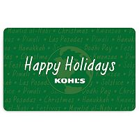 Happy Holidays World Gift Card