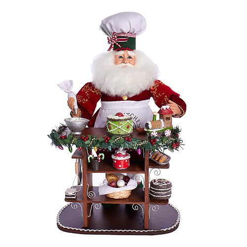 Kurt Adler Chef Santa Christmas Decor