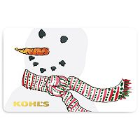 Winter Snowman Gift Card