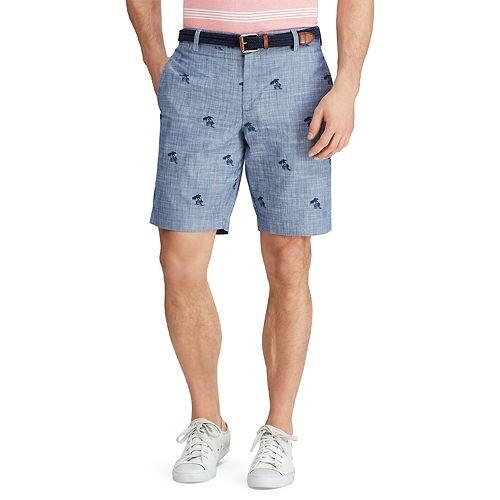 Big & Tall Chaps Classic-Fit Swordfish Chambray Flat-Front Shorts