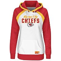 Women's Majestic Kansas City Chiefs Pure Heritage Pullover Hoodie