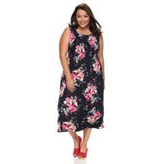 Plus Size Croft & Barrow® Smocked Tank Dress