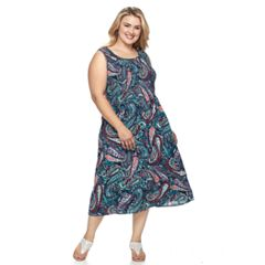 Plus Size Croft & Barrow® Smocked Tank Dress
