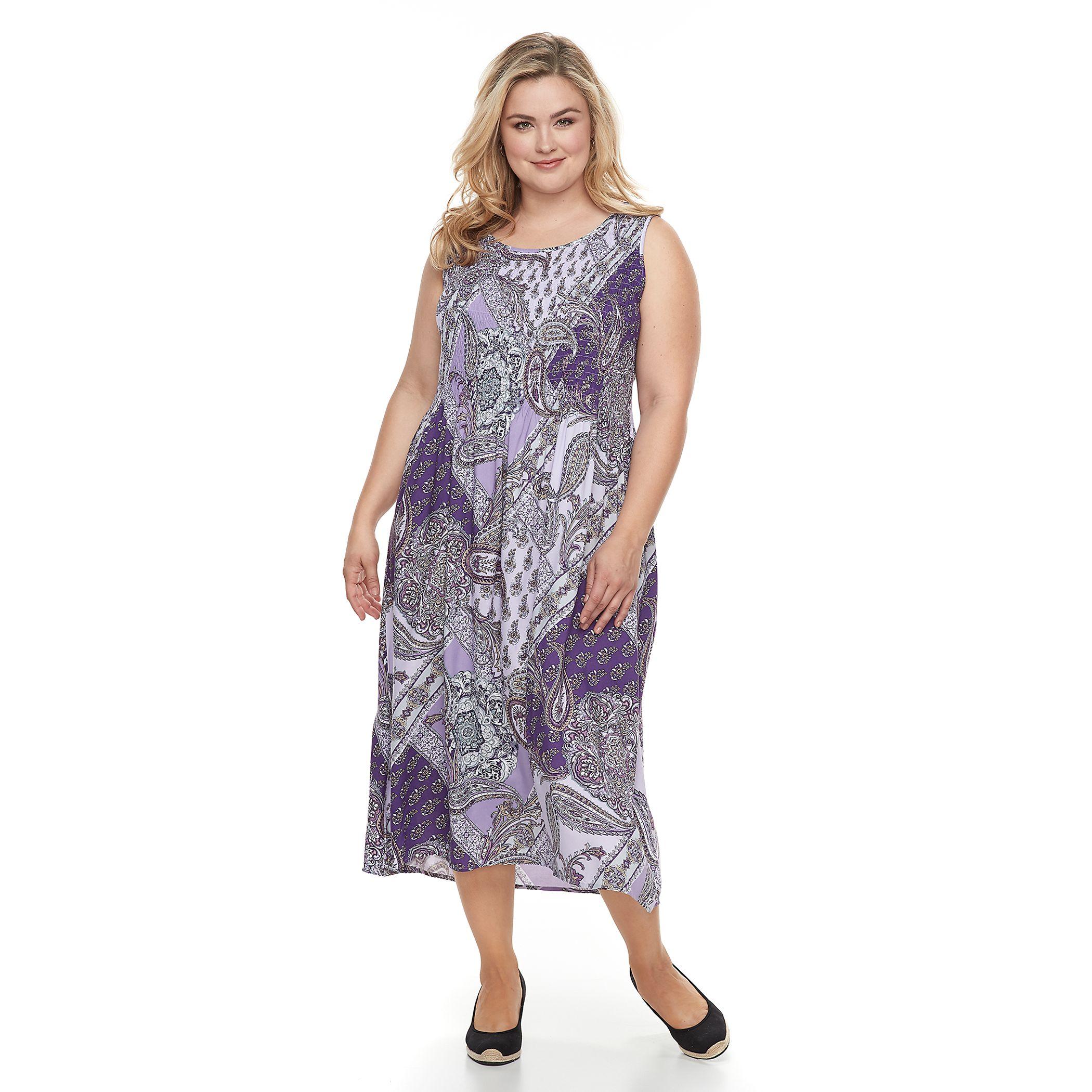 Plus Size Lilac Tank Dress