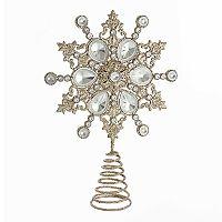 Kurt Adler Shimmer Snowflake Christmas Tree Topper