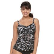 Women's Trimshaper Brandy Bust Enhancer Knot-Front Tankini Top