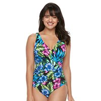 Women's Trimshaper Megan Tummy Slimming Pleated One-Piece Swimsuit