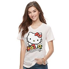 Juniors' Hello Kitty® Classic V-Neck Tee