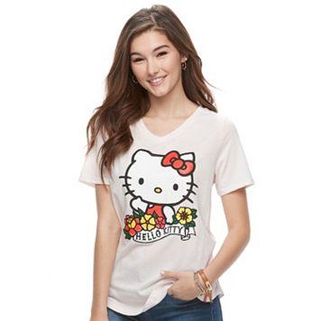 Juniors' Hello Kitty® Classic V-Neck Tee