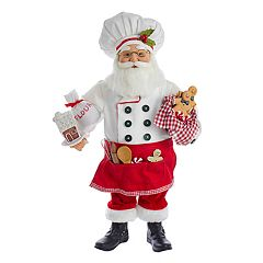 Kurt Adler Baking Santa Christmas Decor