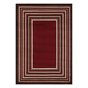 VCNY Stripe Bordered Rug