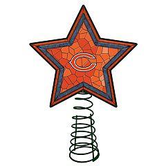 Chicago Bears Mosaic Christmas Tree Topper