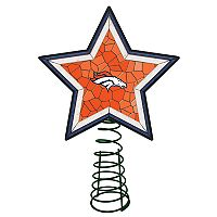 Denver Broncos Mosaic Christmas Tree Topper