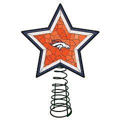 Denver Broncos Mosaic Christmas Tree Topper