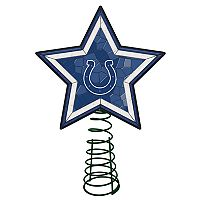 Indianapolis Colts Mosaic Christmas Tree Topper