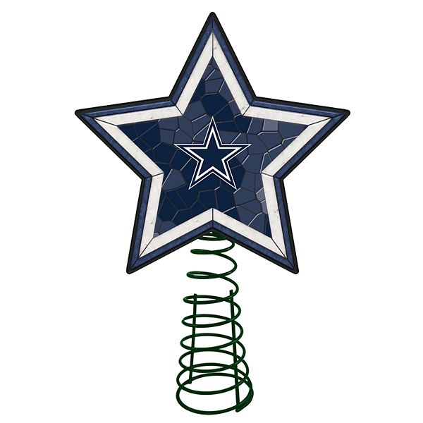 Dallas Cowboys Mosaic Christmas Tree Topper