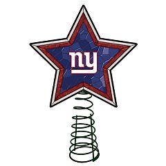 New York Giants Mosaic Christmas Tree Topper