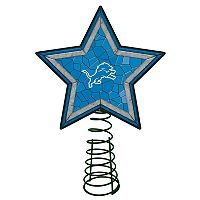 Detroit Lions Mosaic Christmas Tree Topper