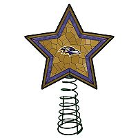 Baltimore Ravens Mosaic Christmas Tree Topper