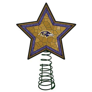 Baltimore Ravens Mosaic Christmas Tree Topper