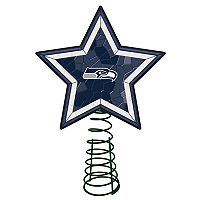 Seattle Seahawks Mosaic Christmas Tree Topper