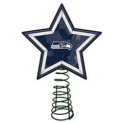 Seattle Seahawks Mosaic Christmas Tree Topper