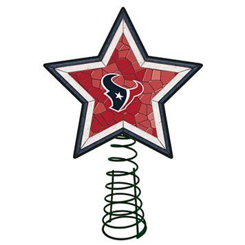 Houston Texans Mosaic Christmas Tree Topper