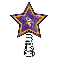 Minnesota Vikings Mosaic Christmas Tree Topper