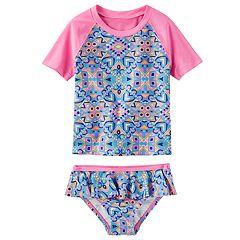 Toddler Girl OshKosh B'gosh® Tribal Print Rashguard & Bottoms Swimsuit Set