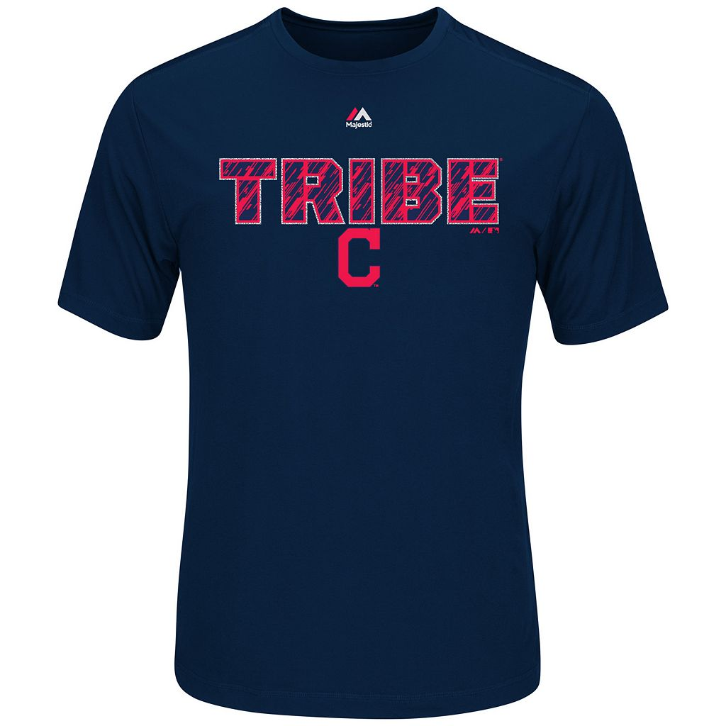 Men's Majestic Cleveland Indians Our History Tee