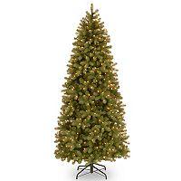 National Tree Company 6.5-ft. Pre-Lit Downswept Douglas Fir Slim Artificial Christmas Tree