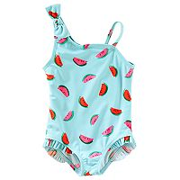 Toddler Girl OshKosh B'gosh® Watermelon Print Asymetrical One Piece Swimsuit