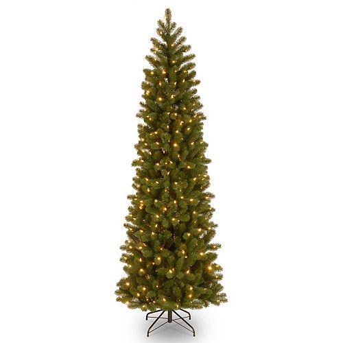 National Tree Company 6.5-ft. Pre-Lit Downswept Douglas Fir Pencil Slim Artificial Christmas Tree