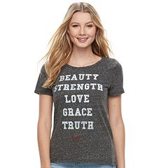 Juniors' Wonder Woman 'Beauty, Strength, Love' Graphic Tee