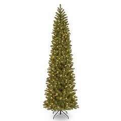 National Tree Company 9-ft. Pre-Lit Downswept Douglas Fir Pencil Slim Artificial Christmas Tree