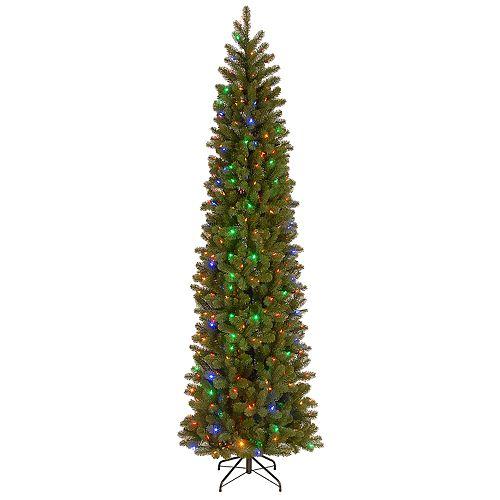 National Tree Company 9-ft. Pre-Lit LED Downswept Douglas Fir Pencil Slim Artificial Christmas Tree