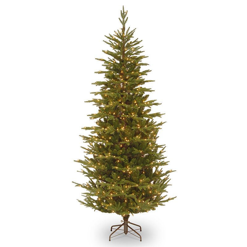 National Tree Company 7.5-ft. Pre-Lit Frasier Grande Slim Artificial Christmas Tree, Green
