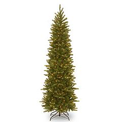 National Tree Company 6.5-ft. Pre-Lit Grande Fir Pencil Slim Artificial Christmas Tree