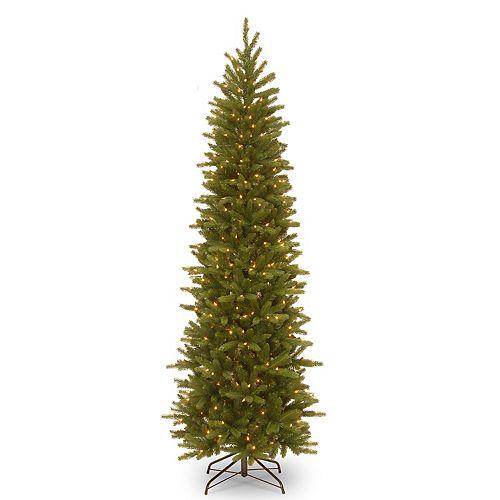 National Tree Company 6.5-ft. Pre-Lit Grande Fir Pencil Slim Artificial Christmas Tree